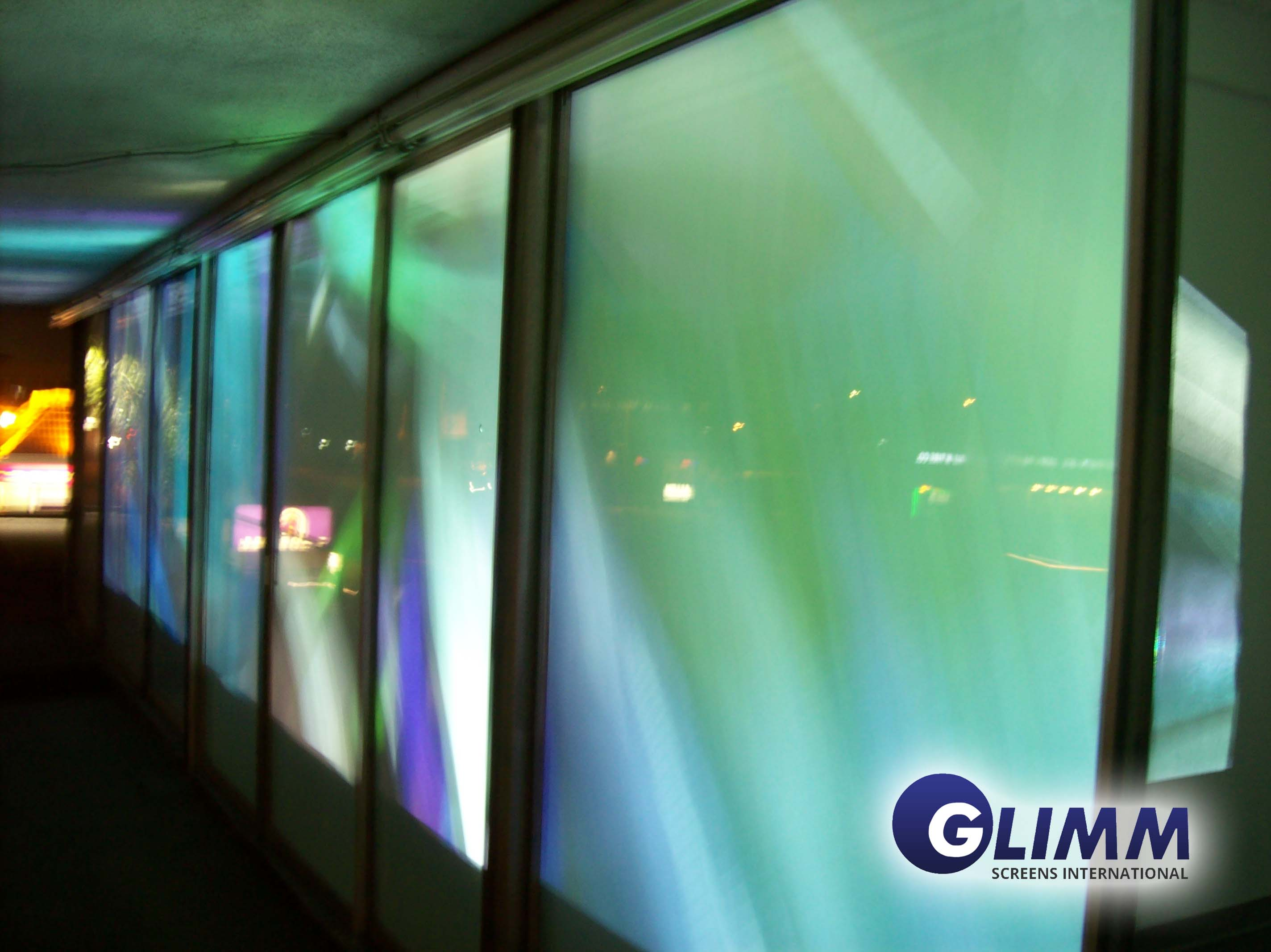 Rear projection films foils