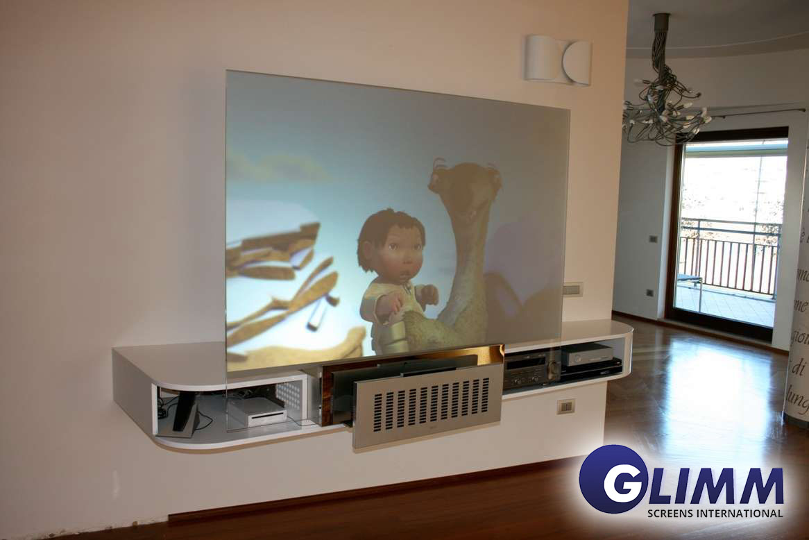 Front Projection Glass Screen