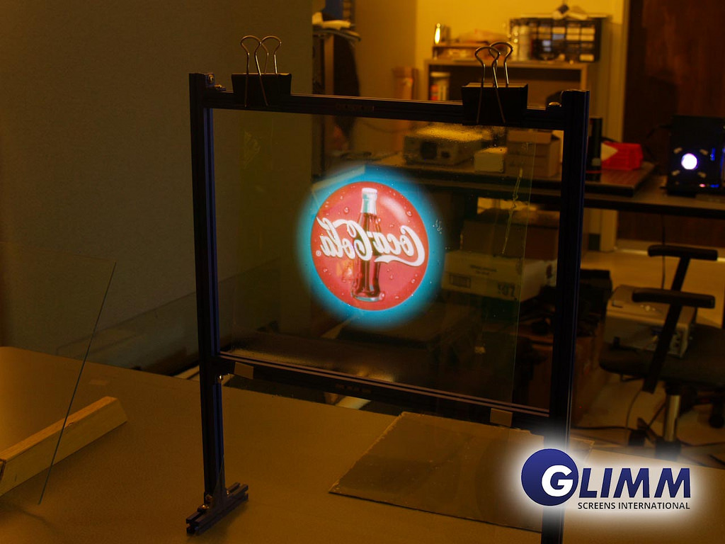 Holographic Projection Screen Rear Front