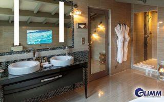 Interactive Mirror TV overlay