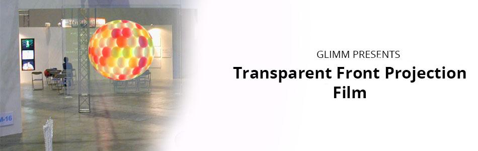 Transparent Front Projection film