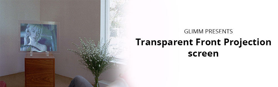 Transparent front projection screen