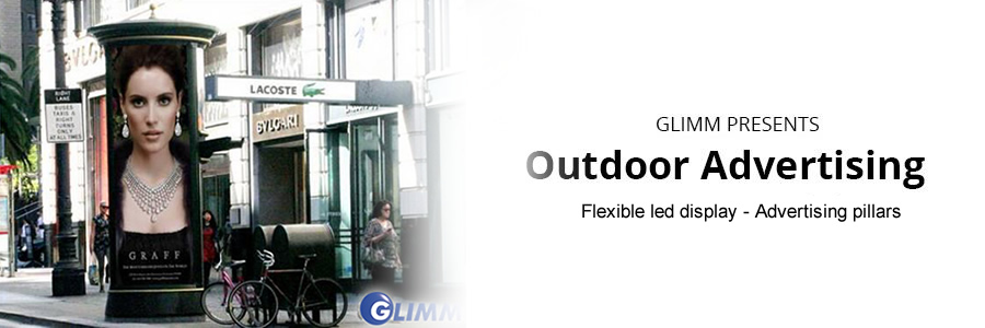 Flexible led display - Advertising pillars