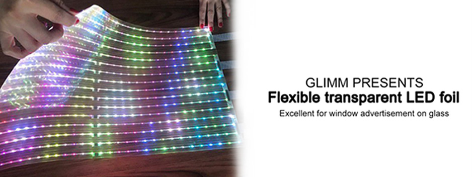 Flexible transparent led foil