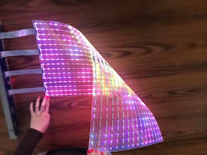 Flexible transparent LED foil news.