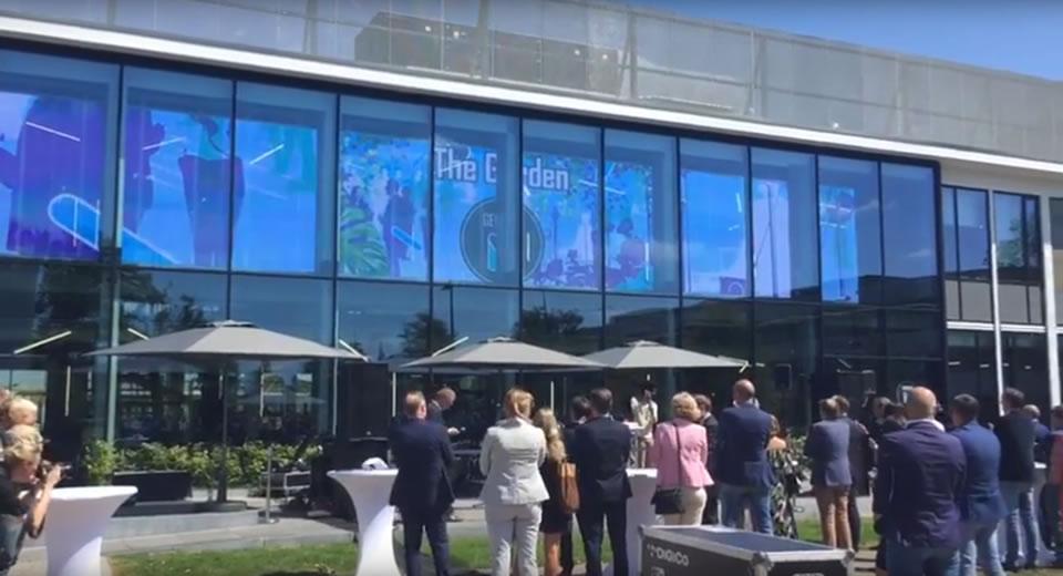 Transparent led screen -science park Hengelo