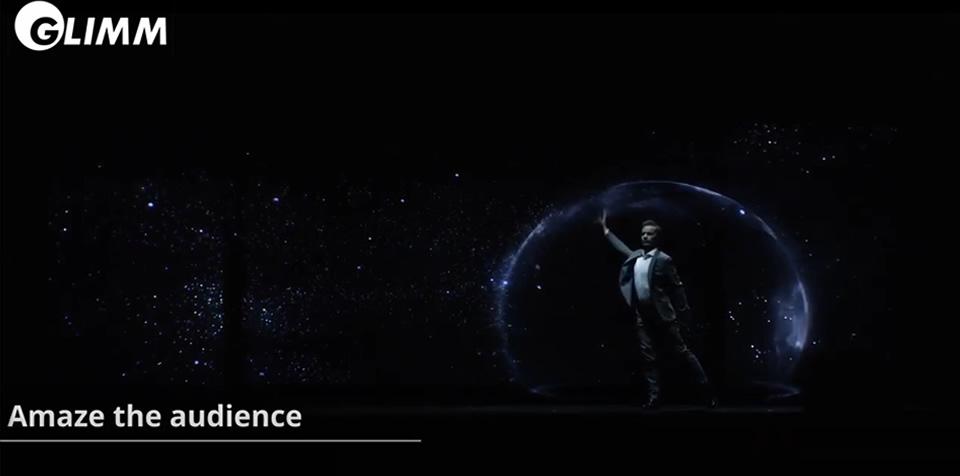 Live size hologram Bjorn Bijster
